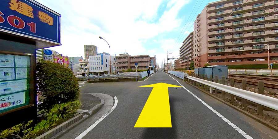 相鉄線湘南台駅からいわもと内科までの徒歩アクセス行程3